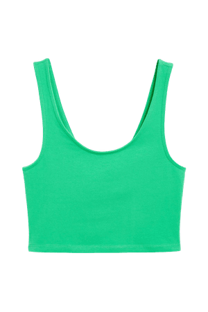 Cropped tank top - Bright green - Cropped tops - Monki WW