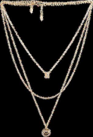 Ettika Circle Pendant Layered Necklace in Gold | REVOLVE