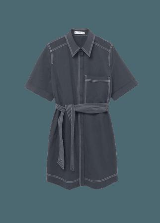 Contrast seam dress - Women | Mango USA