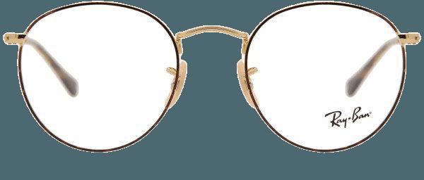 Ray-Ban RX3447V Round Metal 2945 Glasses Havana/Gold | SmartBuyGlasses New Zealand
