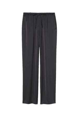 Wide-cut Pants - Black - Ladies   H&M US