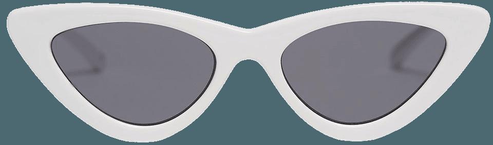 White Smoke Last Lolita Sunglasses by Le Specs x Adam Selman