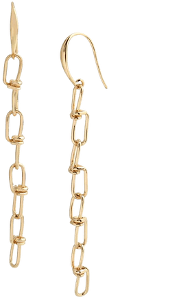Robert Lee Morris Soho Knotted Link Linear Earrings & Reviews - Earrings - Jewelry & Watches - Macy's