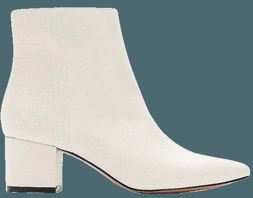 Snakeskin Textured Block Heel Booties