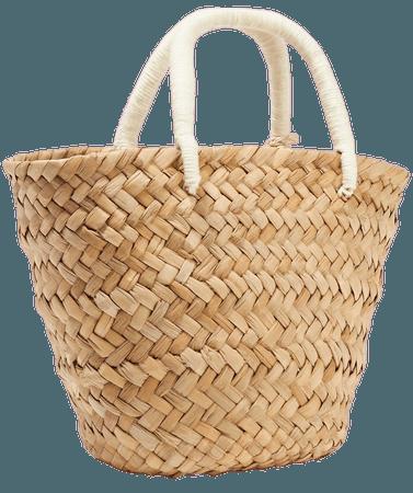 Sand St Tropez mini pompom-embellished embroidered woven straw tote   Kayu   NET-A-PORTER