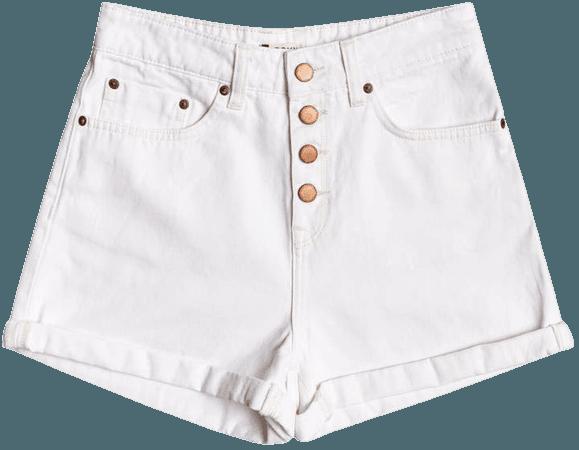 Roxy Morning Authentic Denim Shorts   Nordstrom