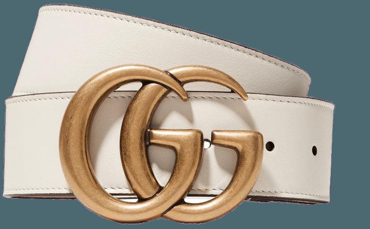 Ivory Leather belt | Gucci | NET-A-PORTER