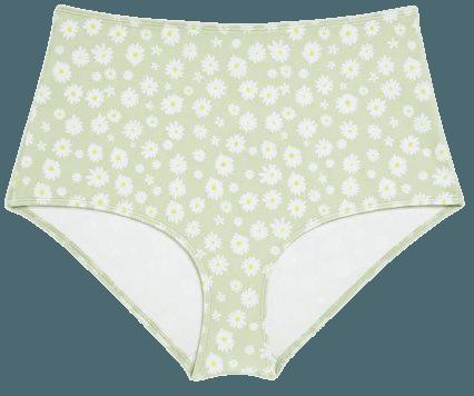 High-waisted bikini briefs - Daisy print - Bikinis - Monki WW
