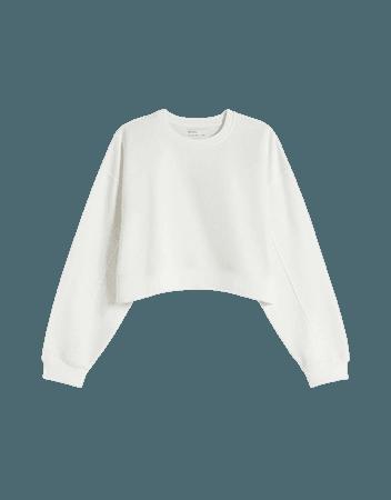Crew neck sweatshirt - Sweatshirts and hoodies - Woman | Bershka