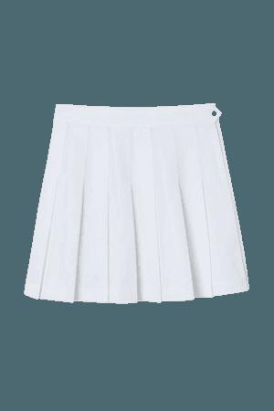 Pleated Skirt - White - Ladies | H&M US