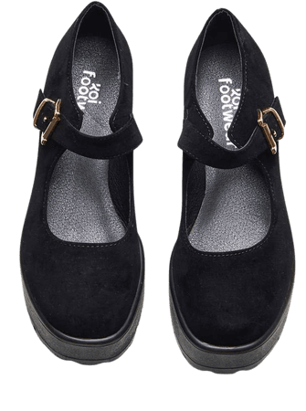 TIRA Black Mary Janes 'Suede Edition'   Koi