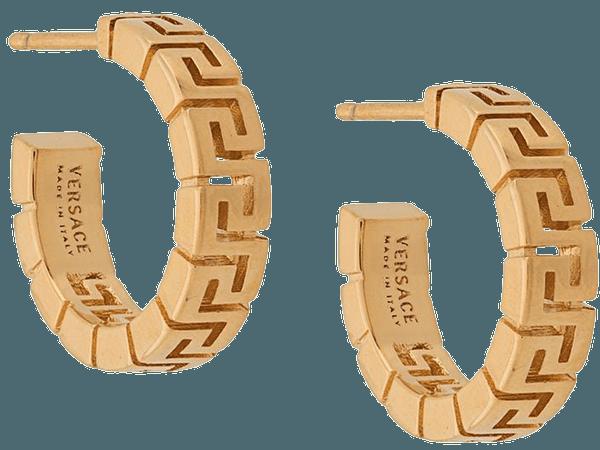 Versace Greca hoop earrings