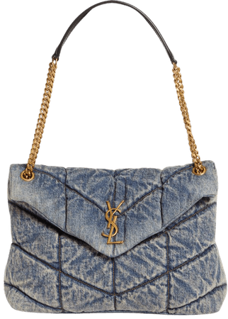 Saint Laurent Medium Lou Quilted Denim Bag | Nordstrom