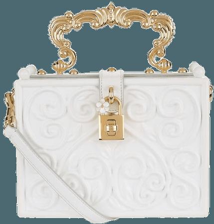 dolce and gabbana white gold bag