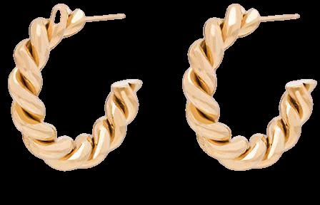 Laura Lombardi Mella gold-tone Hoop Earrings - Farfetch