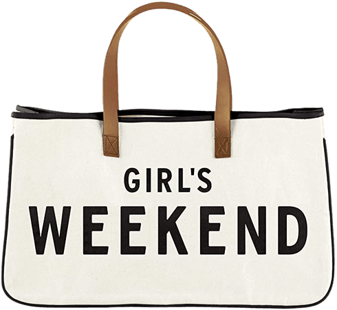 Amazon.com - Santa Barbara Designs Hold Everything Canvas Tote, Large, Girl's Weekend -