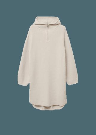 Oversized hooded sweater - Women   Mango USA