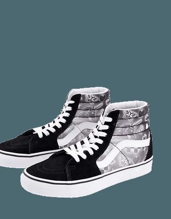 Vans SK8-Hi sneakers in black/white | ASOS