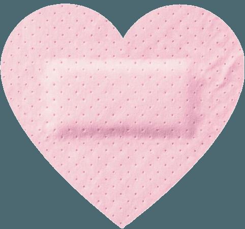 pastel pink bandaid