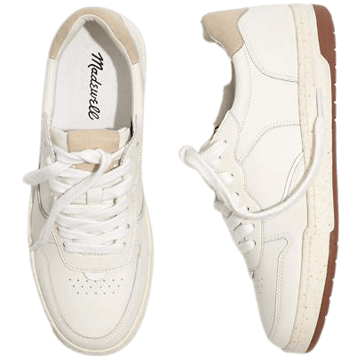 Court Sneakers in White Leather