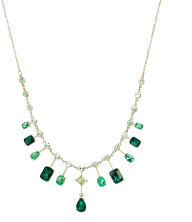 Gemstone Collar Statement Necklace - A New Day™ Green : Target