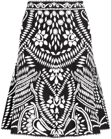 High Waisted Patterned Jacquard Mini Skirt | Express