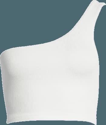 Microrib One-Shoulder Crop Tank | Nordstrom