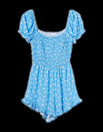 Short printed romper - Dresses - Woman   Bershka