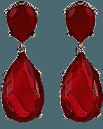Ruby Red Hanging Earrings