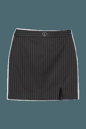 Short Skirt - Black/pinstriped - Ladies | H&M US