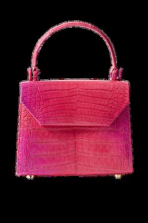 Pink Lily mini dégradé crocodile tote   Nancy Gonzalez   NET-A-PORTER