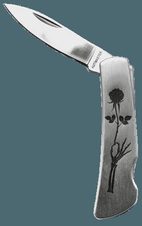 Actual Pain Black Roza Folding Pocket Knife