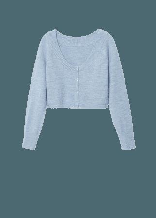 Knitted cropped cardigan - Women   Mango USA