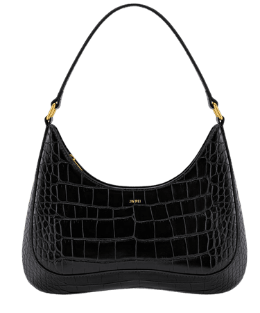 Ruby Shoulder Bag- Black Croc – JW PEI