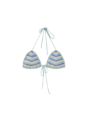 Striped crochet bikini top - pull&bear