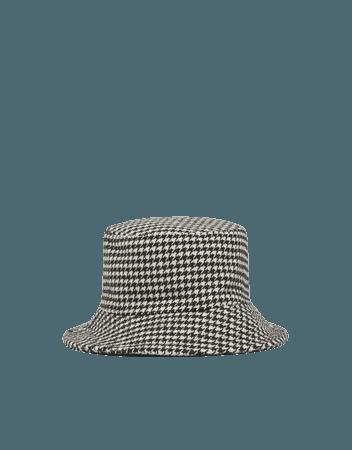 Houndstooth bucket hat - Accessories - Woman | Bershka