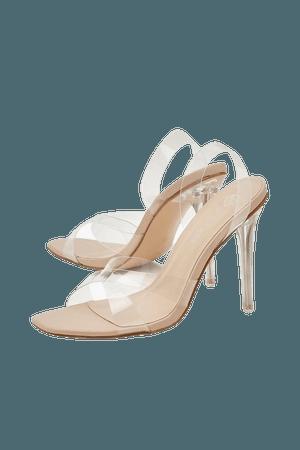 Clear Heel Sling Back Sandals | boohoo