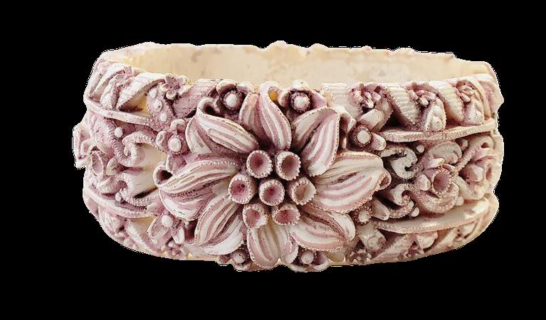 Vintage Pink Featherlite Clamper Bracelet   Etsy