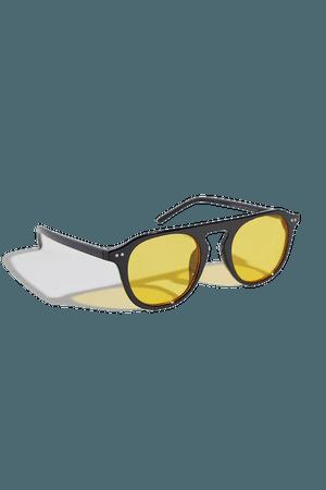Emma Flat Top Aviator Sunglasses | Urban Outfitters