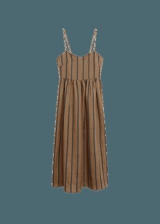 Ramie-blend striped dress - Women | Mango USA