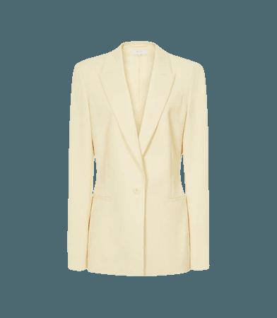 Myah Yellow Wool Blend Slim Fit Blazer – REISS
