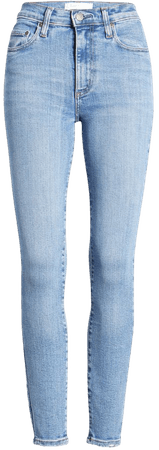 Nobody Denim Cult High Waist Ankle Skinny Jeans (Formula) blue