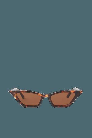 Sunglasses - Brown/tortoiseshell-patterned - Ladies   H&M US