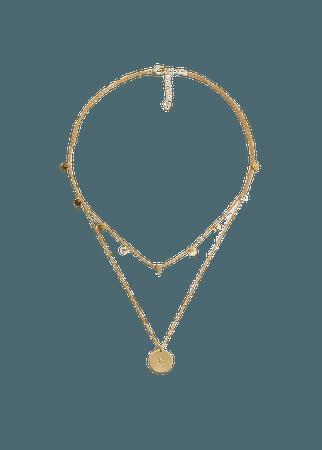 Beaded double necklace - Women | Mango USA