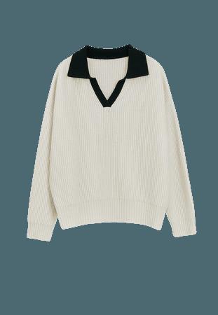 Open Collar Sweater | Women 100% Cashmere Sweater | Lattelier Store