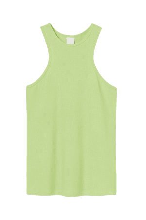 Ribbed Modal Tank Top - Lime green - Ladies | H&M US