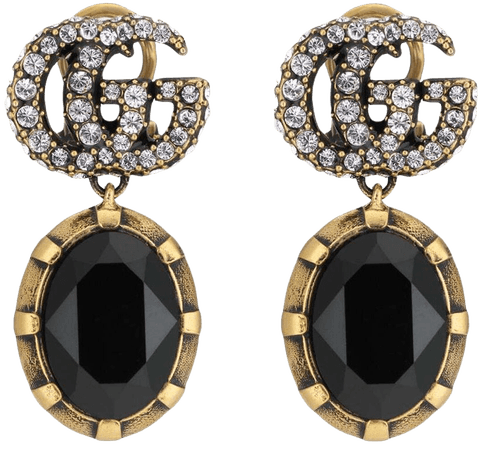Shop Gucci crystal-embellished Double G earrings with Express Delivery - FARFETCH