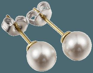 Cate & Chloe - Cate & Chloe Vivienne 18k Gold Studs w/ Swarovski Pearls, White Pearl Stud Earrings for Women, Stud Earrings for Toddler Girls, Round Pearl Earrings, Womens Fashion Jewelry - Nickle Free - MSRP $131 - Walmart.com - Walmart.com