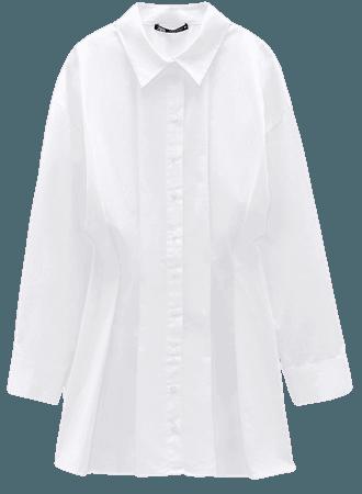 PLEATED SHIRT DRESS TRF | ZARA United States