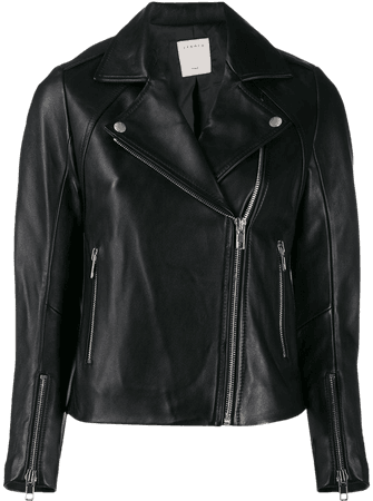 Shop black Sandro Paris biker-style moto jacket with Express Delivery - Farfetch